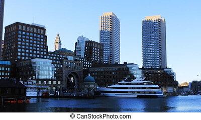 vue ville, centre, boston