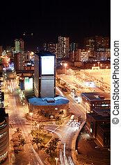 vue ville, nuit