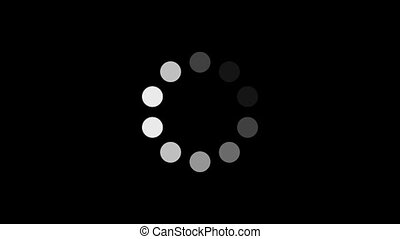 w/, alpha, cercle, chargement, (60fps)