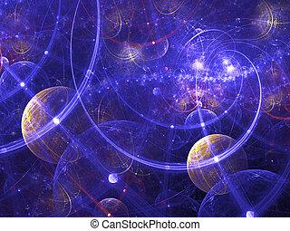 wallpaper., rendu, digitalement, image., résumé, bon, fond, fractal, ou, galaxie