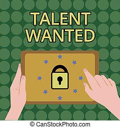 wanted., écriture, spécifique, vacance, métier, texte, besoin, concept, écriture, embauche, signification, techniques, position, talent