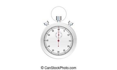 watch., graphics., arrêter mouvement, stopwatch., mécanique, vieux