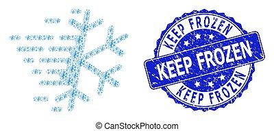 watermark, collage, rond, fractal, icône, gelée, surgelé, flocon de neige, gratté, garder