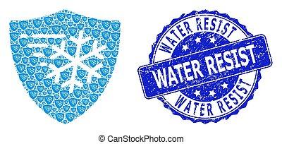 watermark, rond, résister, fractal, protection, icône, gelée, détresse, composition, eau