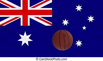 wavers, boucle, basket-ball, drapeau australie, tourne