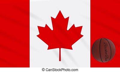 wavers, boucle, basket-ball, drapeau canada, tourne