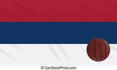 wavers, tourne, boucle, drapeau serbie, basket-ball
