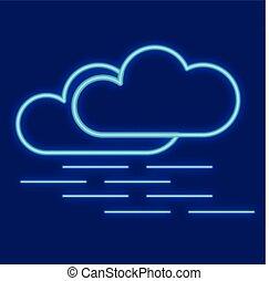 weather., brouillard, nuages