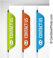 (web), étiquettes, nous, bord, contact, /, autocollants, page