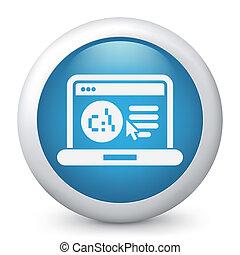 webpage, logiciel, langue, icône