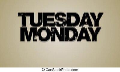 weekdays, hd, boucle