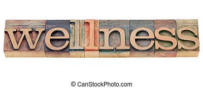 wellness, type, letterpress, mot