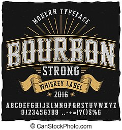 whisky, bourbon, oeil caractère, affiche