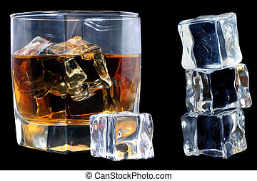whisky, glace