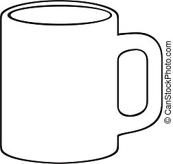 (white, grande tasse café, cup)