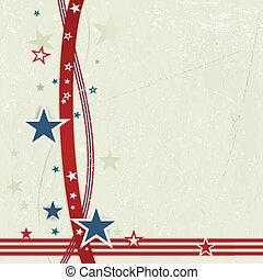 white., rouges, usa, fond, patriotique, bleu, fermé