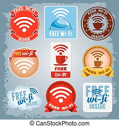 wi-fi, série libère, icônes