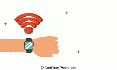 wifi, smartwatch, connexion, service