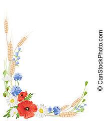 wildflowers, blé