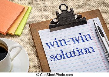 win-win, concept, solution