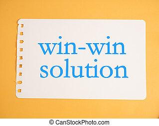 win-win, concept, solution, mots