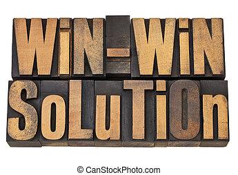win-win, solution, letterpress