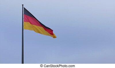 wind., allemand, officiel, doucement, drapeau ondulant, germany.