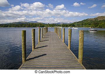 windermere, lac, jetée