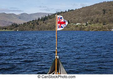 windermere, voyage, bateau, lac