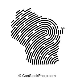 wisconsin, pattern-, carte, illustration, empreinte doigt, rempli, vecteur