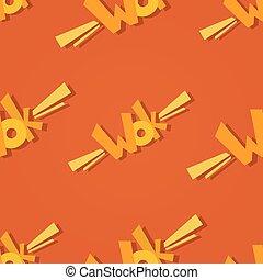 wok, pattern., logo, seamless