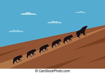 wolfes, concept, direction, meute