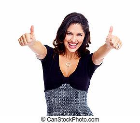 woman., success., business, heureux