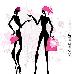 women., mode, achats