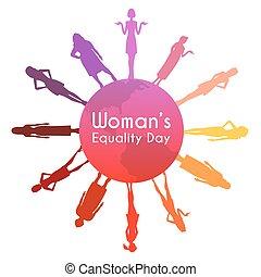 womens, égalité, jour
