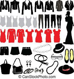 womens, habillement, divers