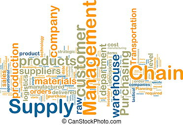 wordcloud, gestion, chaîne, fourniture