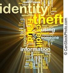 wordcloud, vol identité, incandescent