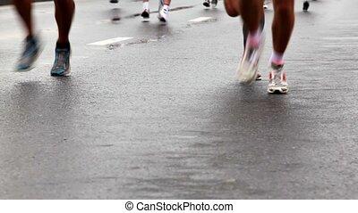 xxx, chaussures, asphalte, jambes, moscou, paix, courant, jogging, usure, mouillé, international, sport, marathon
