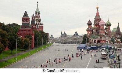 xxx, course, descente, gens, vasilevsky, moscou, paix, international, marathon
