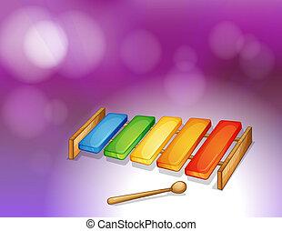 xylophone, coloré