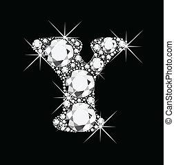y, diamants, lettre