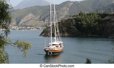 yacht, méditerranéen