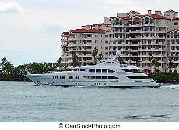 yacht, mega, luxueux
