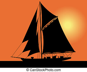 yacht, mer