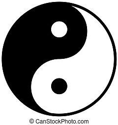 yang, symbole, harmonie, ying, équilibre