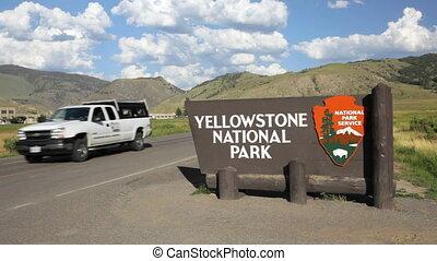 yellowstone, national, 2, parc, signe
