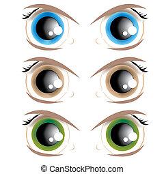 yeux, animé