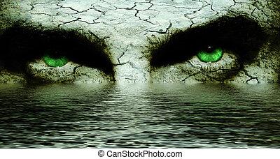 yeux, caverne