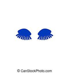 yeux, cils, fermé